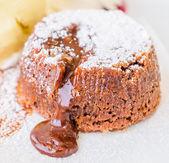 チョコレートの溶岩 — ストック写真