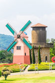 Windmill in the garden — Stok fotoğraf