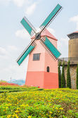 Windmill in the garden — Stockfoto