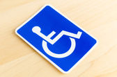 Cripple sign — Stock Photo