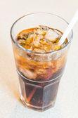 可乐玻璃 — 图库照片
