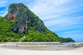 Moutain and beach — Stock Photo