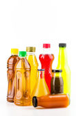 Soft drink bottles — Stock Photo