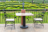Vineyard, table and chairs — Stock Photo
