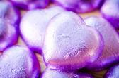 Chocolate hearts — Stock Photo