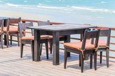 Jantar na praia — Fotografia Stock