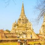 Wat Phra Si Sanphet temple at ayutthaya Thailand — ストック写真