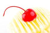 Cherries Donut isolated on white background — Stock Photo