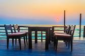Dinner table twilight times — Stockfoto