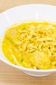 Soupe de nouilles thaï au curry — Photo