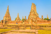 Wat Chai Watthanaram temple in ayutthaya Thailand — Stock Photo