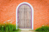 Trä dörrar — Stockfoto