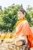 タイのアユタヤのワット ・ ヤイ chaimongkol 寺院 — ストック写真