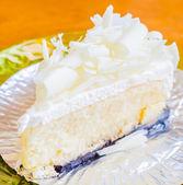White cheese cake — Stock Photo