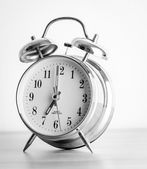 Clock process old vintage black and white style pictures — Stock Photo
