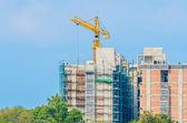 Guindaste de construção — Fotografia Stock