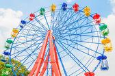 Vintage ferris wheel in the park — Stock Photo