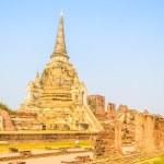 Wat Phra Si Sanphet temple at ayutthaya Thailand — Stock Photo