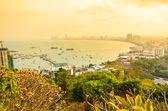 Pattaya cityscape twilight times — Stock Photo