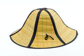 Fondo blanco aislado de sombrero de paja — Foto de Stock