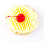 Cherries Donut isolated on white background — Foto de Stock