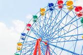 Vintage ferris wheel in het park — Stockfoto