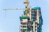 Grúa de construcción del edificio — Foto de Stock