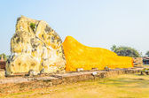 Buddha sleep statue in wat lokayasutharam temple in at ayutthaya — Photo