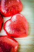 Choklad hjärtan — Stockfoto