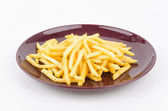 French fries dish isolated white background — Stock Photo