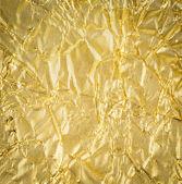 Textura de oro papel arrugado — Foto de Stock