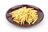 French fries dish — Stock Photo