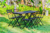 Jardín de la silla de mesa — Foto de Stock
