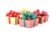 Gift box isolated white background — Stockfoto