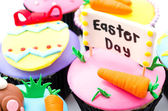 Easter cupcakes isolated white background — Foto Stock