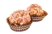 Chocolate ball isolated white background — Stock Photo