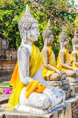 Wat Yai Chaimongkol temple in ayutthaya Thailand — Stock Photo