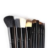 Makeup brush isolated white background — Stock Photo