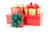 Gift box isolated white background — Stock Photo