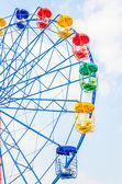Vintage ferris wheel in the park — Stock Photo