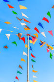 Color party flags — Stock Photo