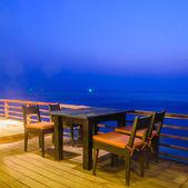 Jídelní stůl twilight krát — Stock fotografie
