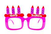 Happy birthday sunglasses — Stock Photo