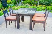 Dinner table on beach — Stockfoto