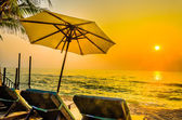 Umbrella beach — Stock Photo