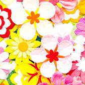 Papírové květiny — Stock fotografie