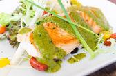 Grill salmon — Stock Photo