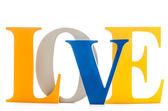 Slovo láska — Stock fotografie
