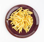 French fries dish isolated white background — Stock Photo