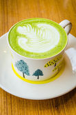 Green tea latte — Stock Photo